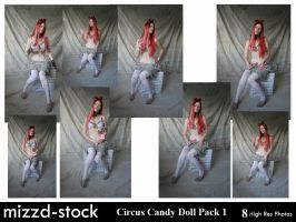 Circus Candy Doll Pack 1 by mizzd-stock