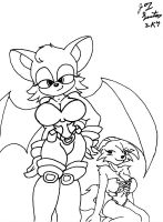 Rouge and Freya by thunderfoxjt