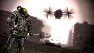 Generic Enclave soldier in a wasteland themed map by jeriffshacob