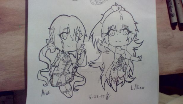 Atoli (fanart) and Lilian (ftoc) by LuluLuvsAnime