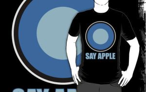 shirt design - say apple by tentacrab