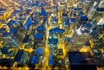 willis tower blue hour by delobbo