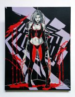 Shattered reality - BloodRayne Canvas Stencil by prometteu