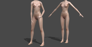 SIMS 3 GENERIC FEMALE BODY NAKED NO HEAD by OoFiLoO