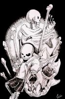 Sans and Papyrus by Genext820