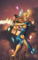 Dazzler-in-blue-and-yellow-tight-suit-photo-u1 by talha122