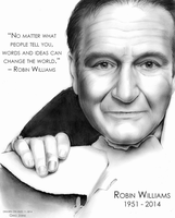 Robin Williams RIP 1951 to 2014 by gregchapin