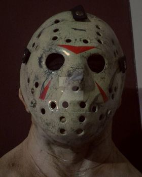 Friday the 13th Part 3 Jason Hockey mask paint up. by MelkorMancin