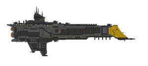 Warhammer 40K Prayer Class Battlecruiser by Seeras