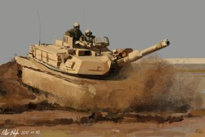 M1A1 Abrams Study by PeterPrime