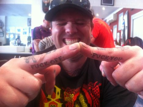 My First Profanity Tattoos.. by KariCliche