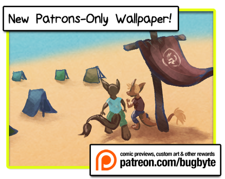 February Patreon Wallpaper by bugbyte