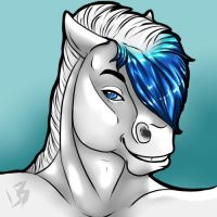 Horse Head Shot Commission 5 by HotrodsImpulse