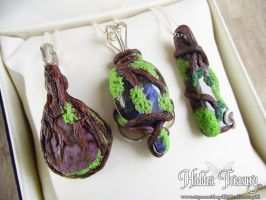 Enchanted Forest Pendants by Hidden-Treasury