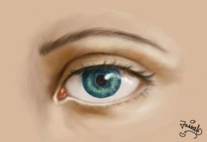 my first digital painting, eye by zaishe5757