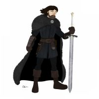 "Eddard ""Ned"" Stark by TheSketchBoy"