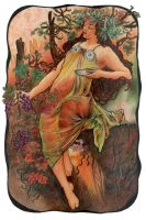 Mucha's Seasons - Autumn by AnnaSulikowska