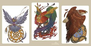 birds for prints by Handwolfy