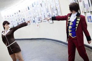 Mia Fey, Miles Edgeworth - Phoenix Wright by Elanor-Elwyn