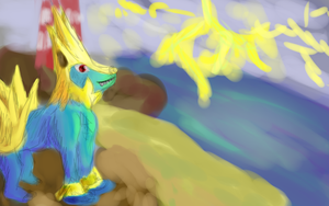 Manectric being awesome by PsychoticFlare