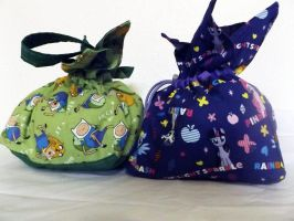 For Sale: MLP and Adventure Time Bento Bags by CL-Pinkskull