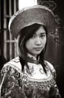 Traditional Vietnamese girl by saldon