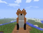 Minecraft Fox statue by dragon5961