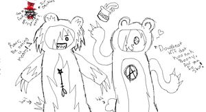 Scare bear Sepp and hooneh ham bear by Dysfunctional-H0rr0r