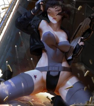 Major Motoko Kusanagi by TeemuTaiga