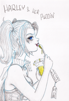 Harley and her puddin' by Tsukiko-chan