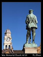 War memorial & Town hall clock rld 01 dasm by richardldixon