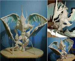 Stardust Dragon Sculpture WIP by Zwielichtodin