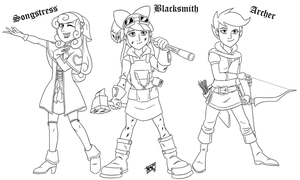 LINE - Cutie Mark Crusaders Fantasy Heroes by Mono-Phos