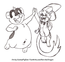Rodent high-five! -collab- by GuineaPigDan