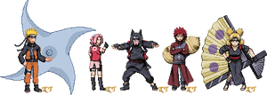 Shippuden Sprite Series 1 by KingdomTriforce