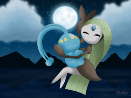 Sweet dreams, Manaphy by Rose-Beuty