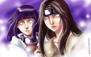 Neji+Hinata: White Eyes by claudiakat