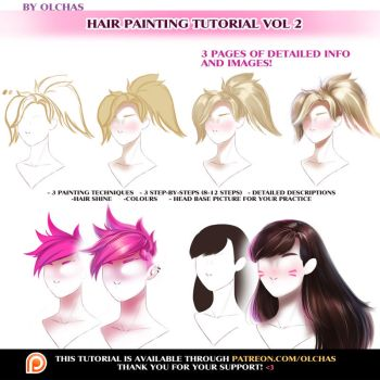 Hair Painting tutorial vol 2 by OlchaS