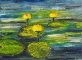 Yellow Water Lilies by ErynLuin