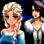 Elsa of Arendelle and Squall Leonhart by SirDidymus-Liona
