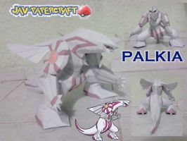 Palkia v2 papercraft model by javierini