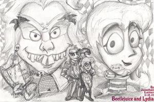 Beetlejuice and Lydia by FilmmakerJ