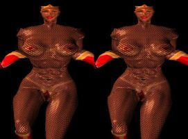 Old poser 3d CGI Fishnet by 3dpinup