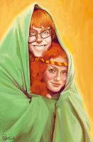 Arthur Weasley and Molly Prewett by Peregrinus5Floh