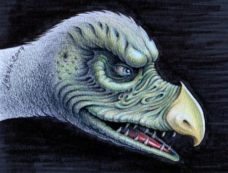 Chamberlain Skeksis from DARK CRYSTAL by Skulpturen
