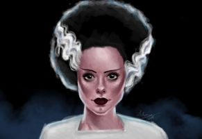 The Bride of Frankenstein by Ashiwa666
