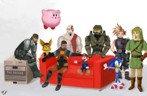 Video Game Celebrities by ClintostheGreat