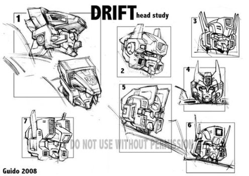 DRIFT - early head sketches by GuidoGuidi