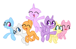 MLP Base(chibi):Friends are always there for you by SnowflakeWonder
