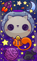 space cat by pronouncedyou